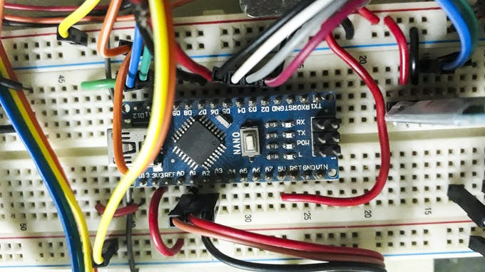 Arduino Nano for controlling the robot.