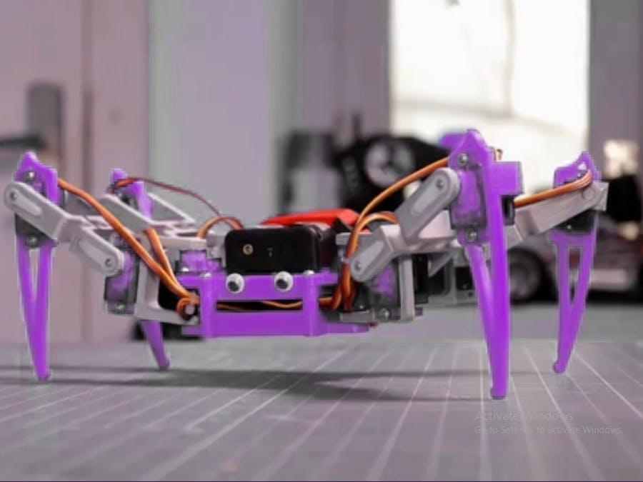 Arduino Spider Robot Testing/#smartcreativity