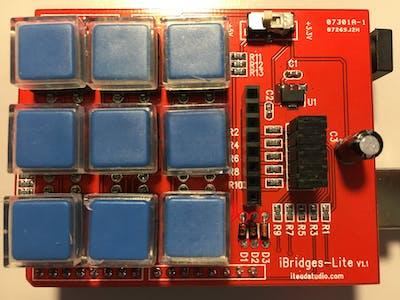 iBridges-Lite 3x3 key-pad shield