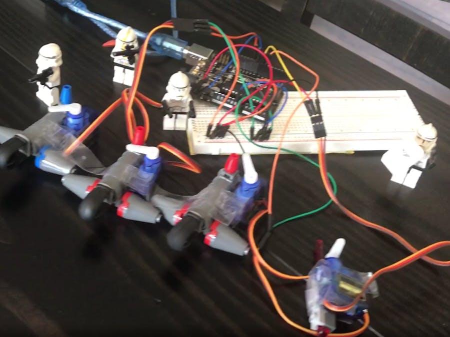 Lego Gun shooter with an Arduino Uno