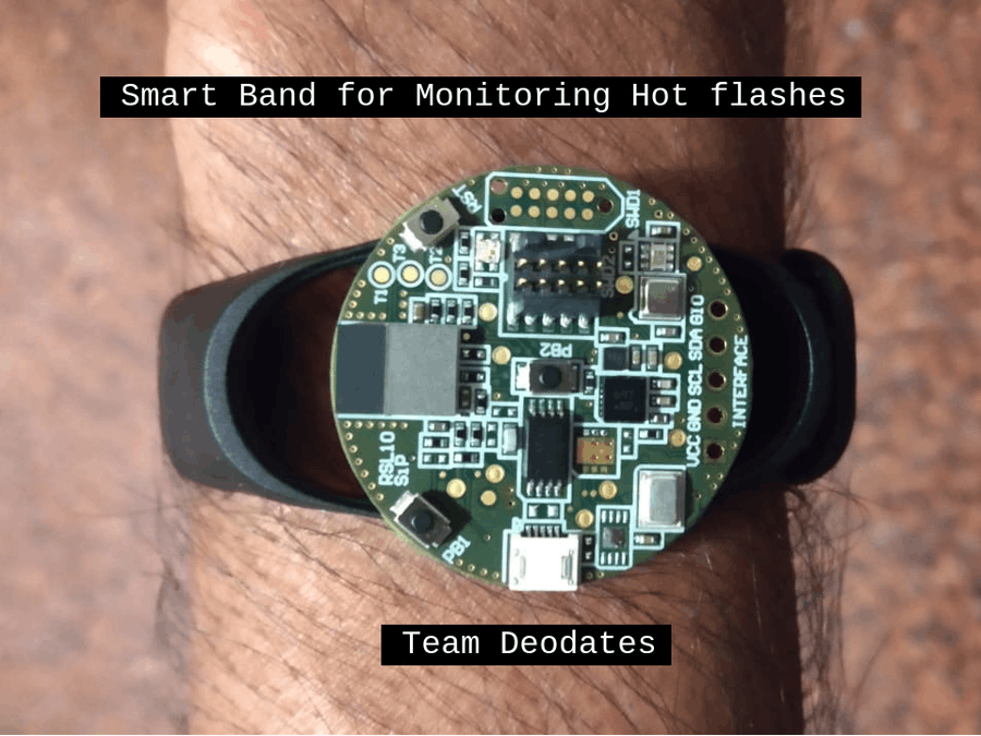 Smart Band for Monitoring Hot flashes