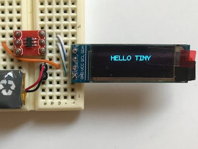 OLED Display Driven by ATtiny10