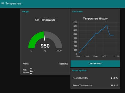 Glass Fusing Kiln Controller with Network Monitor
