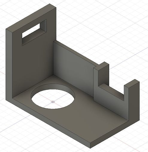 3D printed structural elements bespoke designed for the most common soap pump dimensions
