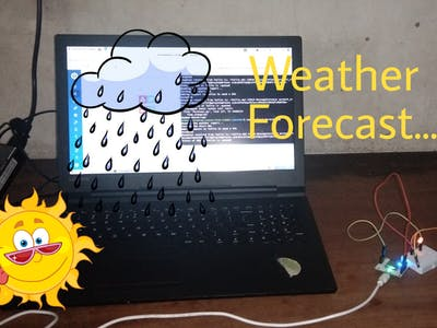 Weather reporting and alarming system using BolT