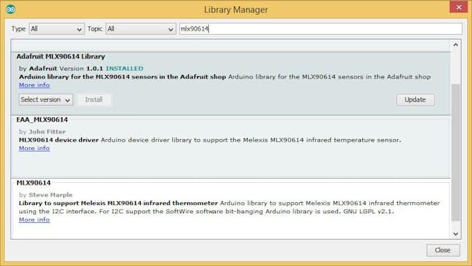 Library MLX90614