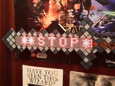Minecraft Interactive Do Not Enter Sword/Sign (ESP32-CAM)