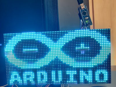 Running a 32x64 RGB LED Panel with only an Arduino Nano