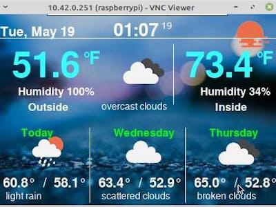 Raspberry pi open-weather display