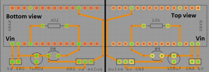 Single sided perboard wiring guide
