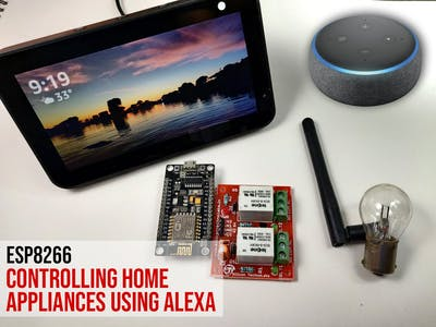 Control Home Appliances through Alexa with ESP8266 or ESP32