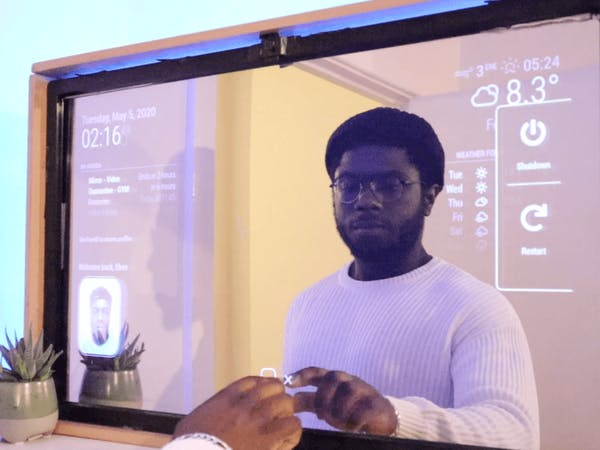 Smart Mirror Touchscreen (with Face Recognition)