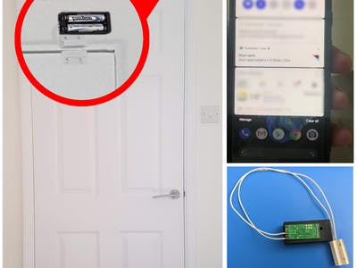 IOT Door sensor - Wi-Fi based, powered on 2xAAA batteries
