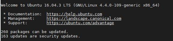Ubuntu server 16.04.3