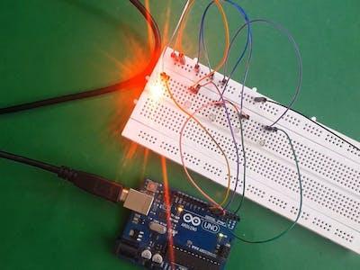 Running LEDs Using Arduino