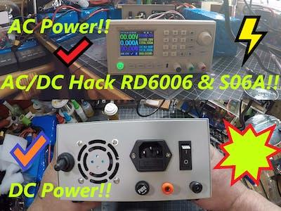"DIY AC/DC Hack "" Mod "" RD6006 Power Supply For DC & AC"