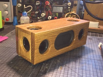 "DIY Dayton Audio Mini Bluetooth Speaker 1"" CE32A W/Oak Case"