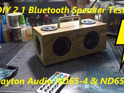 !!Awesome!! DIY Mini Bluetooth Speaker BoomBox Build Dayton