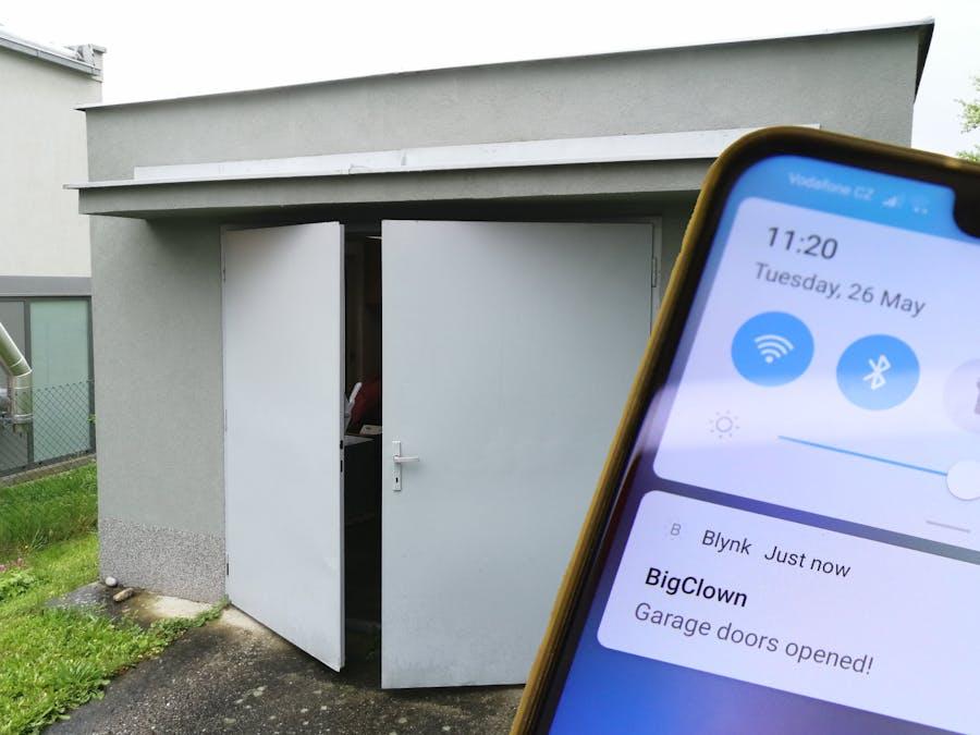 Open Garage Door Notifier