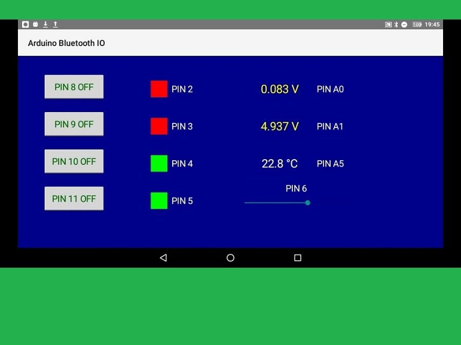 Arduino Bluetooth Android