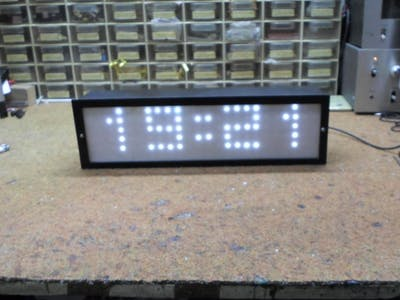 Big LED Matrix Clock