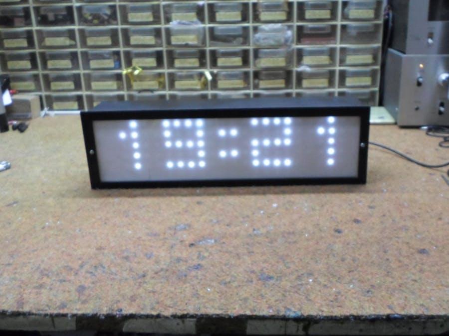 Big LED Matrix Clock
