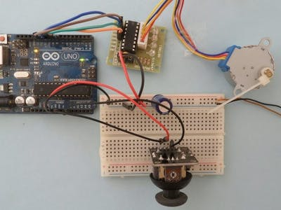 Driving 28BYJ-48 Stepper Motor Control with Joystick