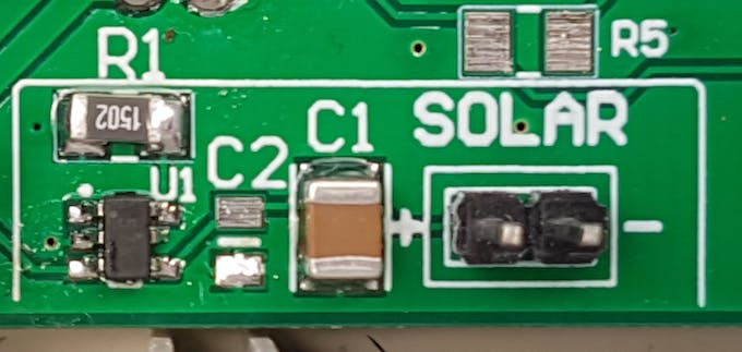Simple TP4057 based Li-Ion charging circuit using solar cell