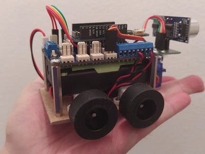 Mini 4WD Arduino Robot Controlled by Bluetooth