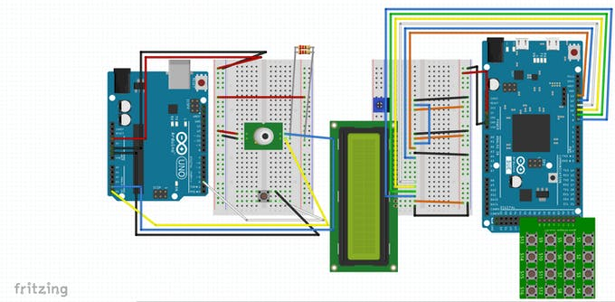 The Fritzing Circuit Diagram for the Project
