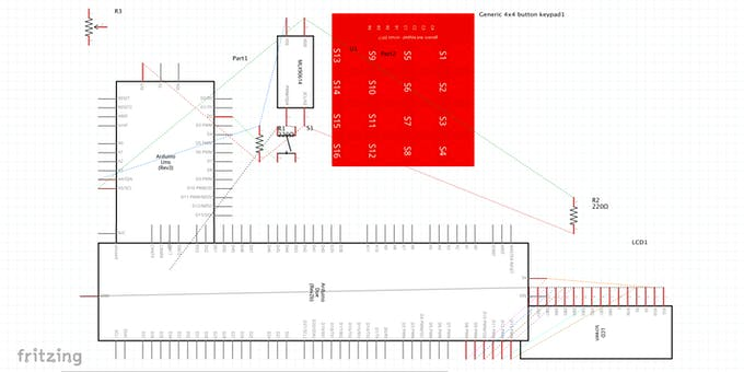 The Fritzing Schematic for the Project