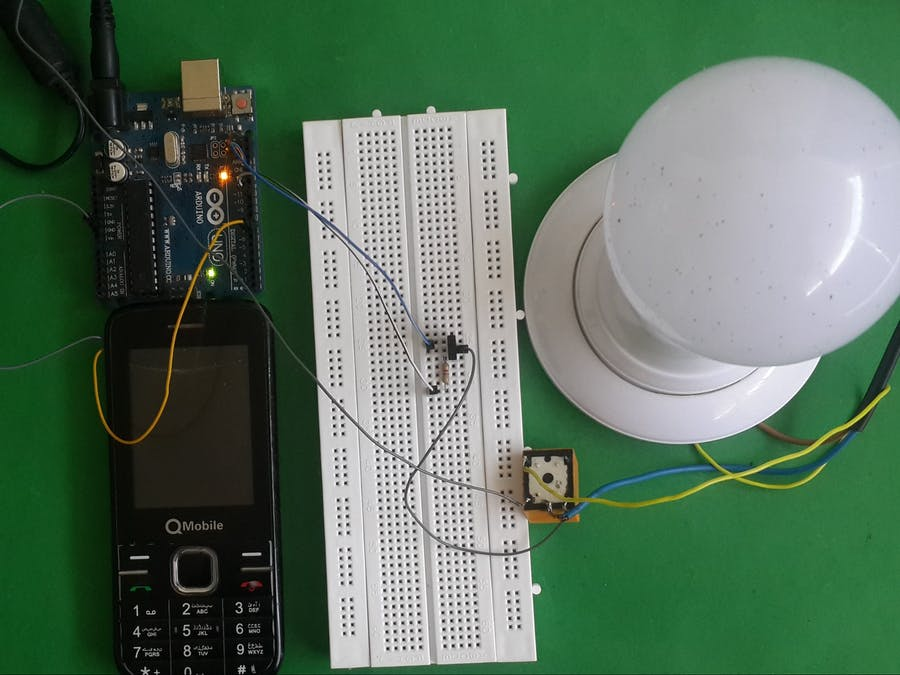 GSM Light Control System by using Mobile