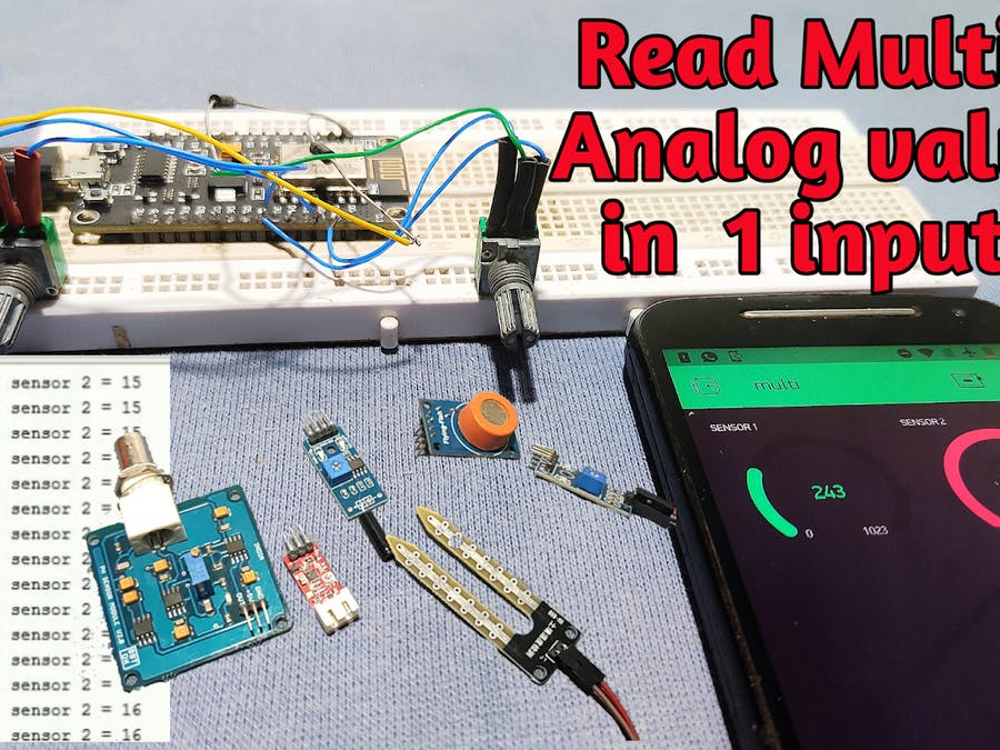 How to Read Multiple Analog Values Using One Analog Pin