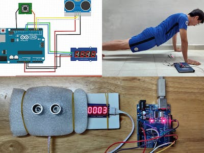 Push-up Counter using Arduino and Ultrasonic Sensor