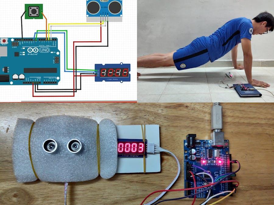 Push-up Counter using Arduino and Ultrasonic Sensor