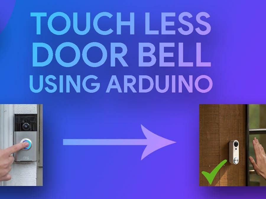 Ultrasonic Touchless Doorbell Sensor using Arduino