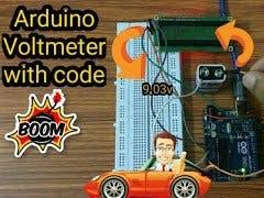 Arduino Voltmeter  DIY Voltmeter with Arduino  Arduino Voltm