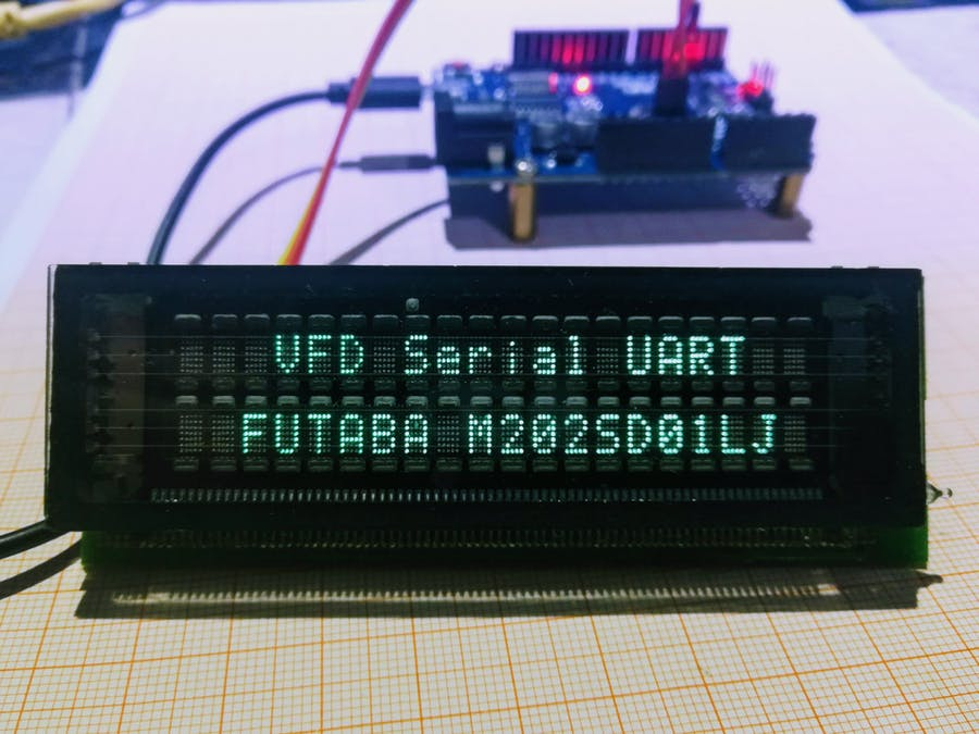 VFD Serial Futaba M202SD01 Arduino