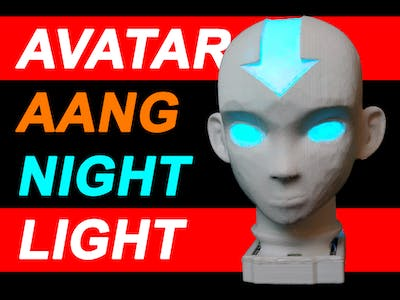 RGB LED Avatar Aang Night Light