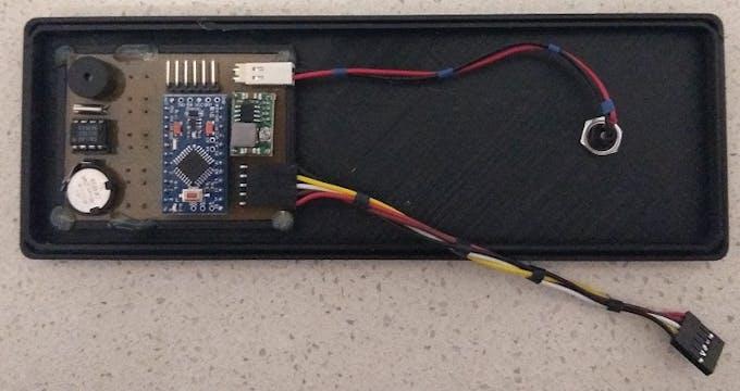 MPU board hot glued to back