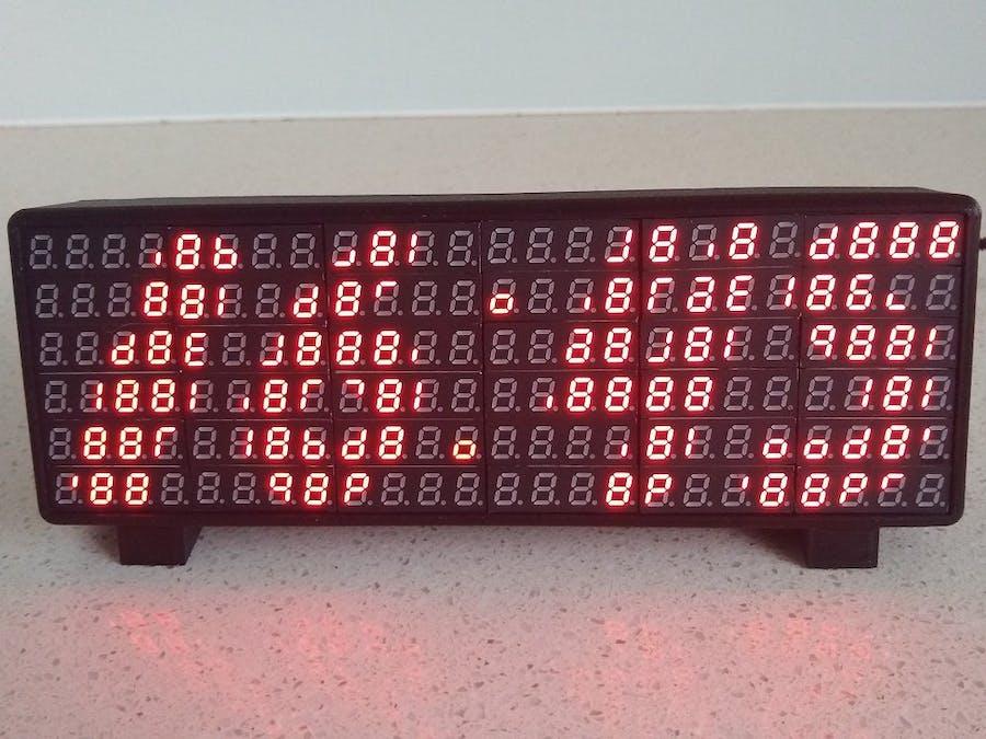 7-Segment Array Clock