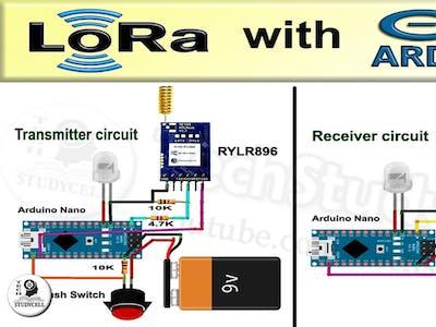 LoRa Arduino control Relay circuit