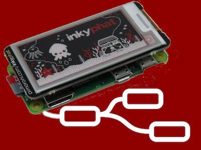 NodeRED Raspberry Pi ZeroW plus Pimoroni InkyPHAT