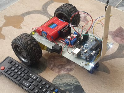 Robotic Car controlled over IR Remote