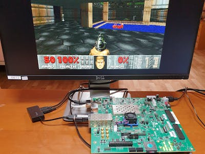 DOOM with Hardware Accelerators on FPGA (open-source)