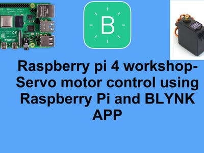 Servo motor control using Raspberry Pi and BLYNK APP