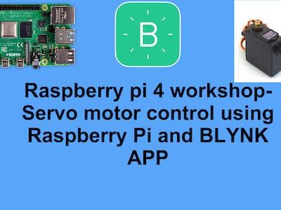Servo motor control using Raspberry Pi and BLYNK APP