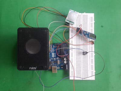 Welcome Audio by using PIR sensor