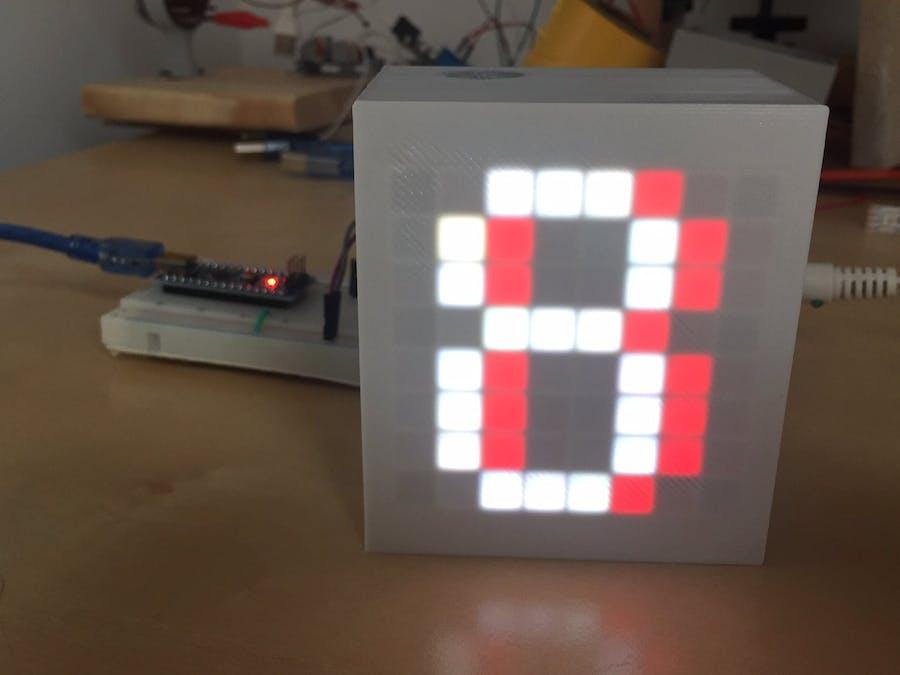 Final Countdown with 8x8 LED Matrix and Arduino Nano