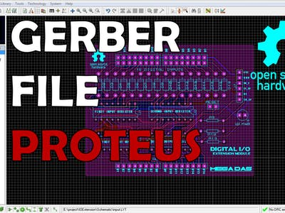 How to generate GERBER FILES in Proteus
